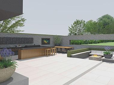 Longfield Kent Large Garden Design