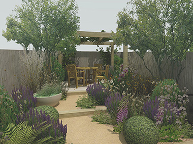 West Sussex small garden design for a new build